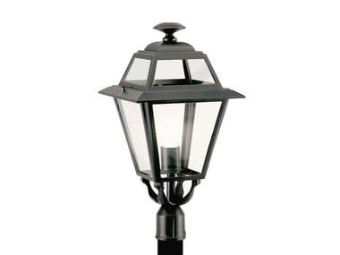 Lampione da giardino a lanterna in alluminio e vetro ELEGANCE 859