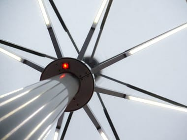 Garden umbrella with built-in lights BIG BEN - ELEGANCE