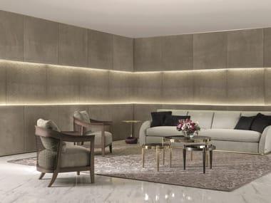Leather boiserie with integrated lighting ELEGANT | Boiserie
