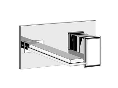 Mitigeur lavabo mural en métal sans garniture d'écoulement ELEGANZA | Mitigeur lavabo mural