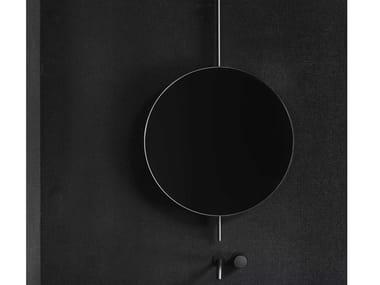 Round framed wall-mounted mirror ELEMENTI   Round mirror
