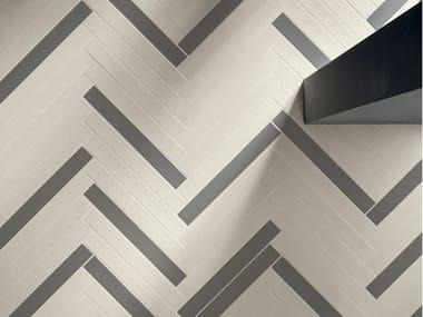Pavimento/rivestimento in gres porcellanato effetto legno ELEMENTO BIANCO