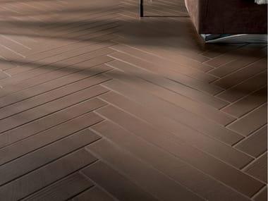 Pavimento/rivestimento in gres porcellanato effetto legno ELEMENTO TABACCO