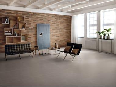 Pavimento/rivestimento in gres porcellanato per interni ELEMENTS DESIGN TAUPE
