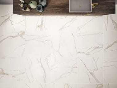 Wall/floor tiles with marble effect ELEMENTS LUX CALACATTA GOLD
