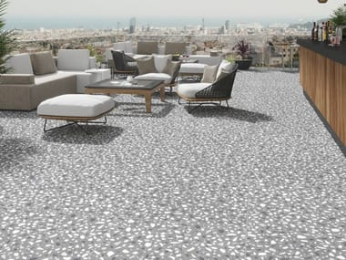 Indoor/outdoor porcelain stoneware flooring ELEMENTS