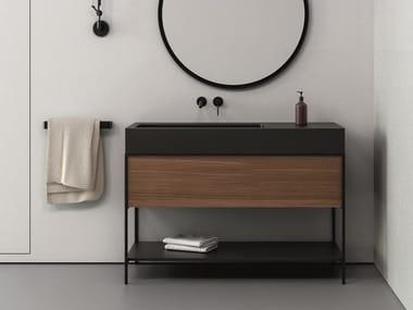 Mobile lavabo da terra con cassetti ELEN 120 | Mobile lavabo