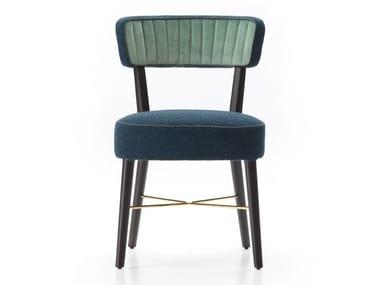 Fabric and beech chair ELENA SOFIA
