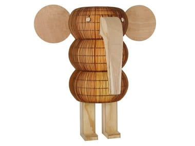 Handmade wood veneer floor lamp SMELLY FANT