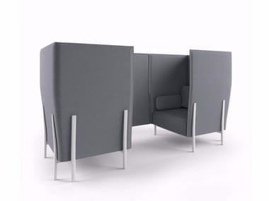 Canapé composable avec dossier haut ELEVEN HIGH BACK PRIVACY - 866