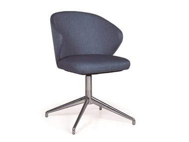 Office chair with 4-Spoke base ELICIA CB METAL