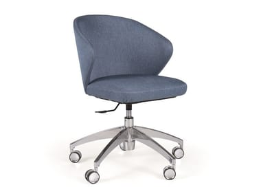 Office chair with 5-Spoke base with castors ELICIA CB METAL ROD