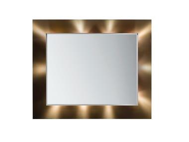 Specchio con illuminazione integrata da parete ELISA | Specchio con illuminazione integrata