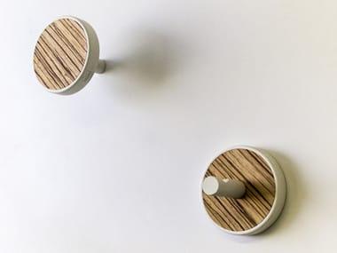 Couple of wall hangers made of precious wood ELITE ZEBRANO