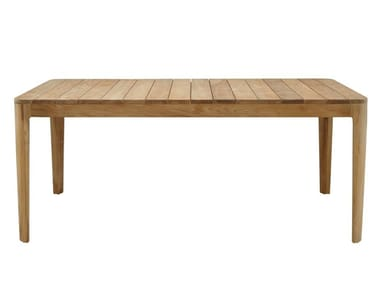 Table de jardin rectangulaire en teck ELIZABETH | Table de jardin