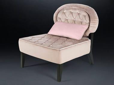 Tufted fabric armchair ELIZABETH