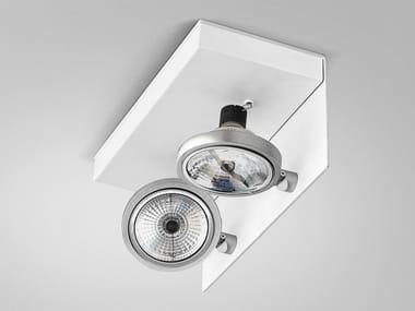 Adjustable ceiling metal spotlight ELLE | Metal spotlight