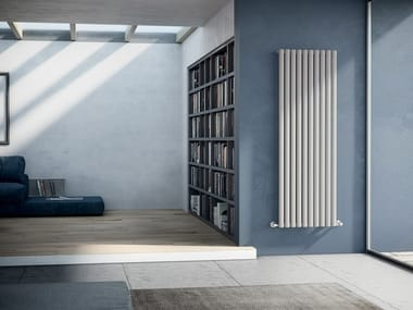 Vertical wall-mounted steel decorative radiator ELLIPSIS_V