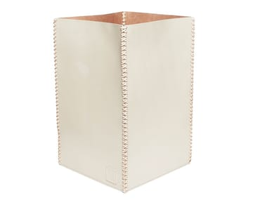 Leather waste paper bin 354 | Waste paper bin