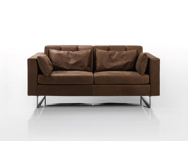 2 seater recliner sofa EMBRACE | Leather sofa