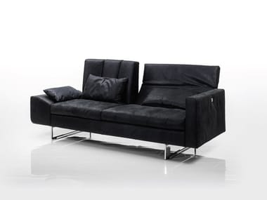 Recliner 2 seater leather sofa EMBRACE | Recliner sofa