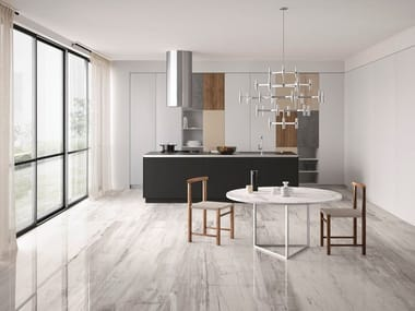 Porcelain stoneware wall/floor tiles with wood effect EMINENT GREY