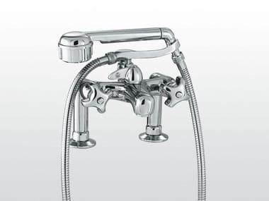 robinet pour baignoire 2 trous avec douchette emisfero 3267rg306 - Robinet Baignoire Avec Douchette
