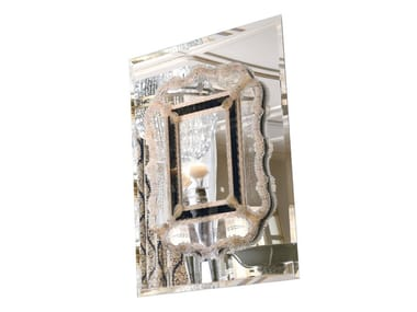 Rectangular wall-mounted glass mirror EMOZIONI | SPO300
