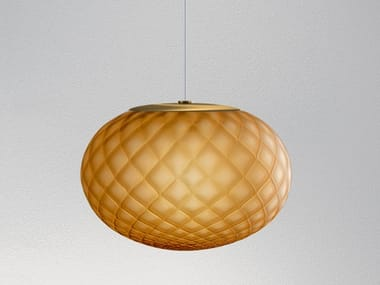 LED blown glass pendant lamp EMY