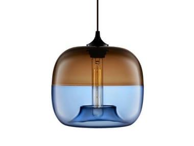 LED handmade blown glass pendant lamp ENCALMO-STAMEN