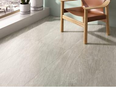 Pavimento/rivestimento in gres porcellanato effetto pietra ENCODE GREY