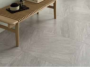 Pavimento/rivestimento in gres porcellanato effetto pietra ENCODE SHELL