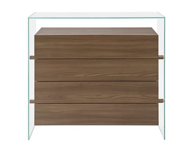 Glass chest of drawers ENCORE | Chest of drawers