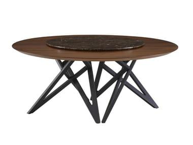 Tavolo da pranzo rotondo in legno con Lazy Susan ENNÉA | Tavolo con Lazy Susan