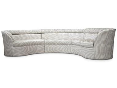 Sofá secional curvo de tecido ENTICE