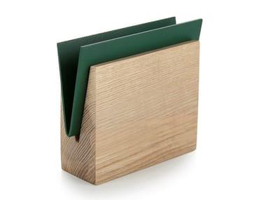 Ash and metal napkin holder / desk tray organizer ENVELOPE | Metal napkin holder