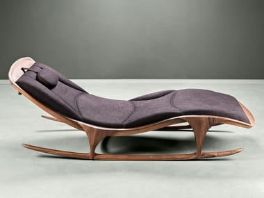 Upholstered fabric Chaise longue ENZO