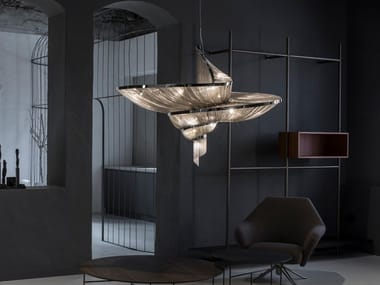LED metal pendant lamp EPOQUE XL