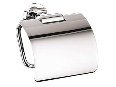 Metal toilet roll holder with cover EPOSA | Toilet roll holder with cover