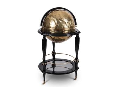 Brass bar cabinet EQUATOR GLOBE GOLD | Brass bar cabinet