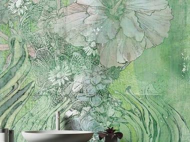 Papel de parede de tecido não tecido de flores EQUATOR