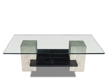 Low glass coffee table EQUILIBRIUM