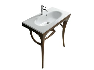 Consolle lavabo in iroko ERGO 7156