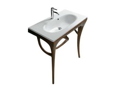 Consolle lavabo in iroko ERGO 7123