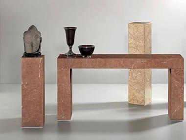 Rectangular Rojo Alicante marble console table ERMETE | Rojo Alicante marble console table