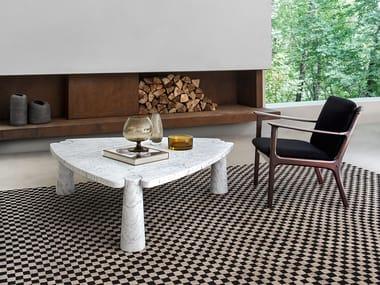 Tavolino triangolare in marmo EROS | Tavolino triangolare