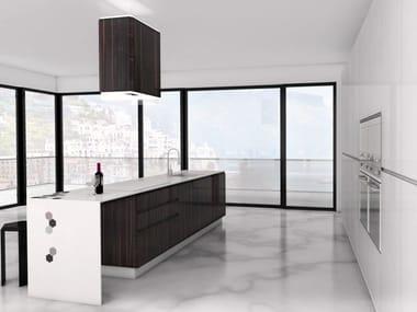 Corian® kitchen with island ESAGONO