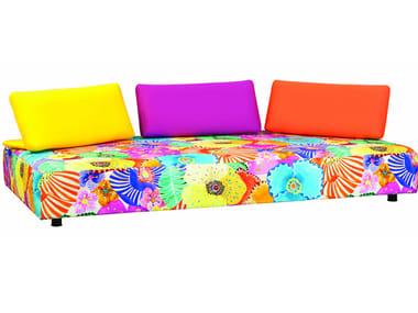 3 seater fabric garden sofa with removable cover ESCAPADE