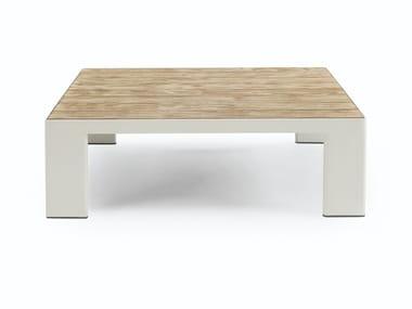 Low teak garden side table ESEDRA | Square coffee table