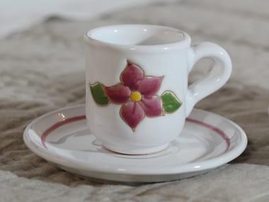 Ceramic espresso cup with saucer PRIMAVERA ROSA | Espresso cup